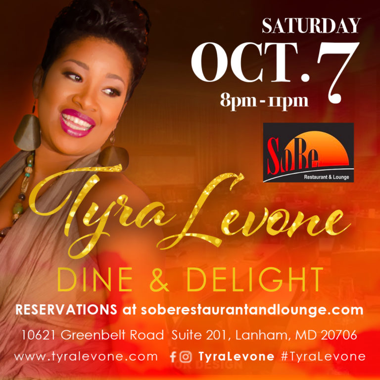 Dine & Delight: Dinner and Jazz with Tyra Levone at Sobe Restaurant and Lounge